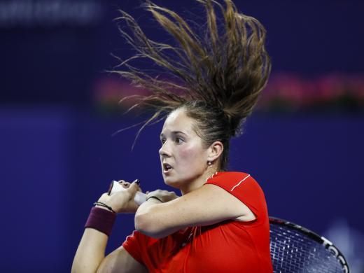Daria Kasatkina came through a topsy-turvy match against Wang Qiang (Getty)