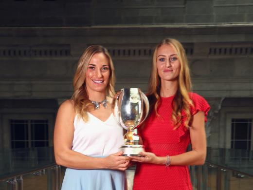 Babos and Mladenovic beat the World No.1 pair Barbora Krejcikova and Katerina Siniakova in the final (Getty)