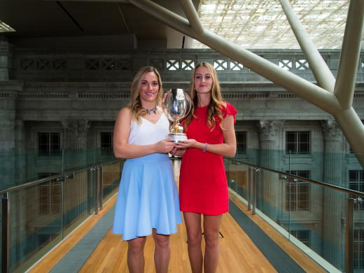 Babos and Mladenovic at the National Gallery (Jimmie48/WTA)