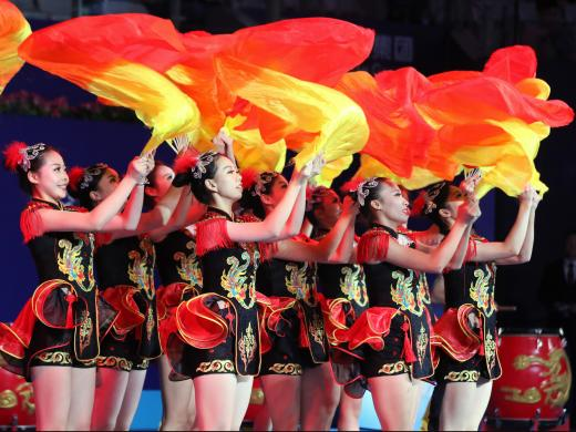 The dancers at the Zhuhai opening ceremony (Getty)