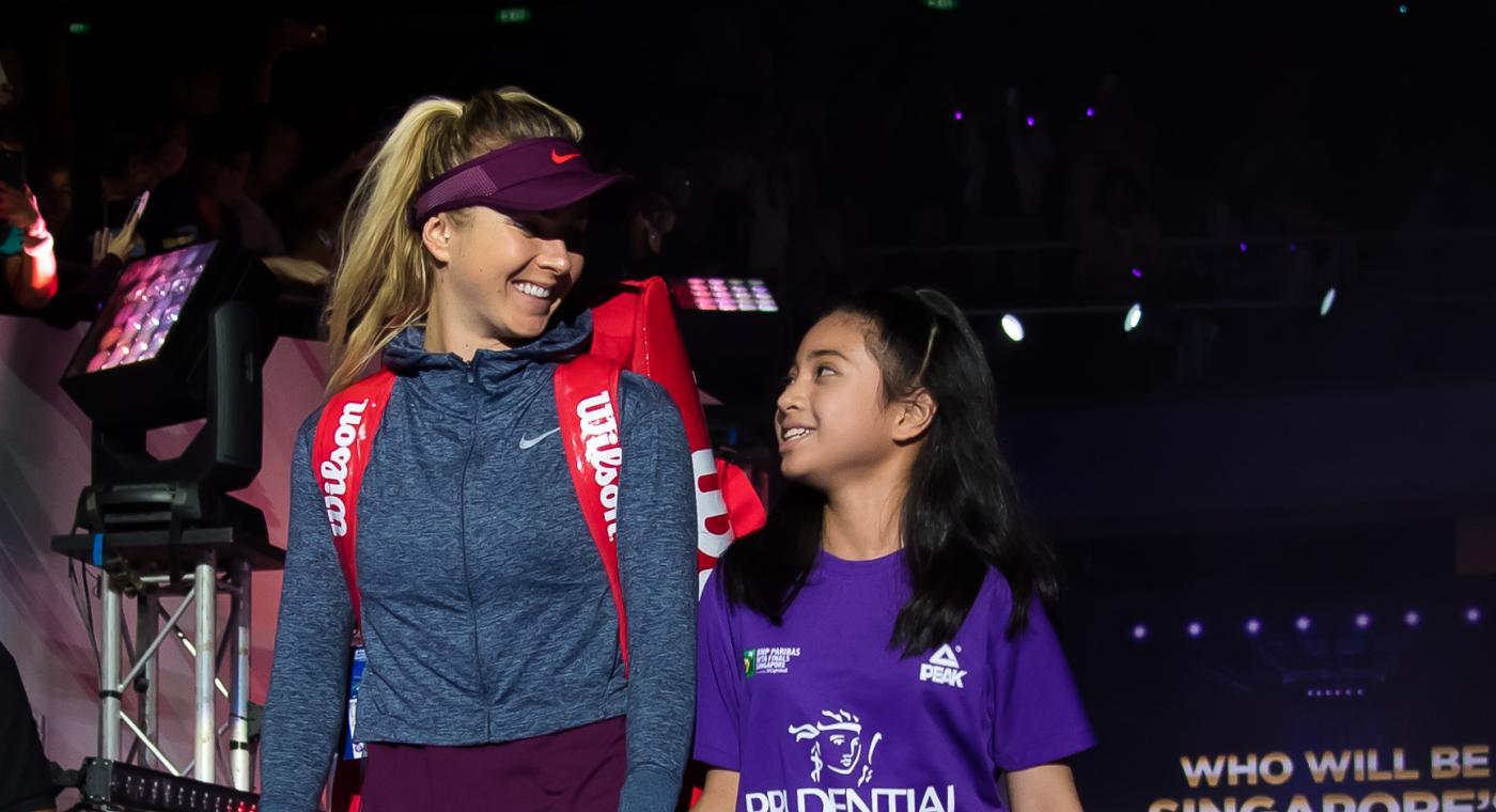 Elina Svitolina walking out on to court (Jimmie48/WTA)