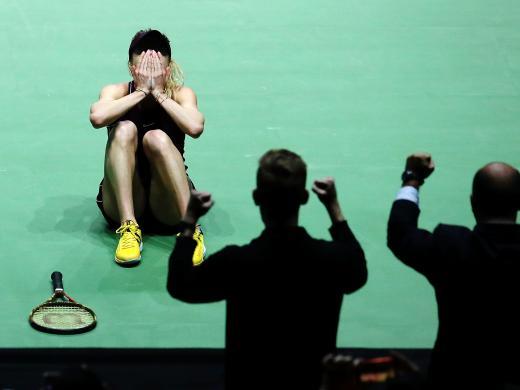 Svitolina wrapped up the three-set win 4-6, 6-2, 6-2 (Getty)