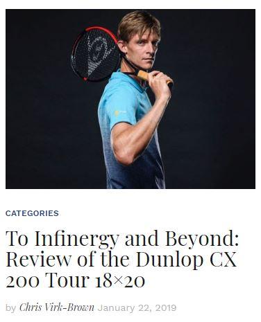 Dunlop CX 200 Tour 18x20 Review blog