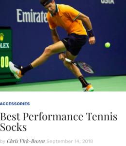 Best Performance Tennis Socks Blog Snippet