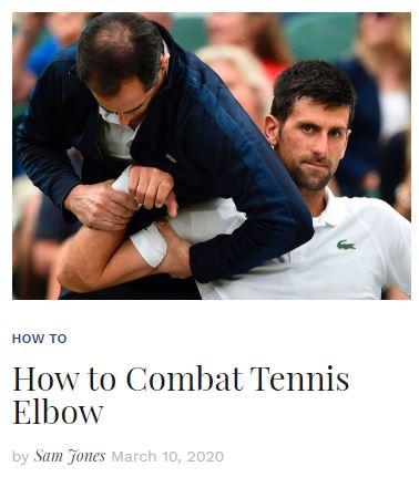 How to Combat Tennis Elbow