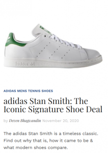 adidas Stan Smith Signature Shoe Deal