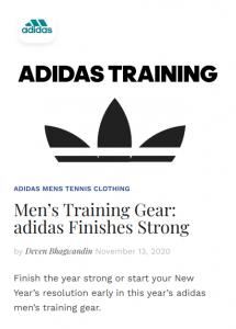 adidas mens tennis clothing